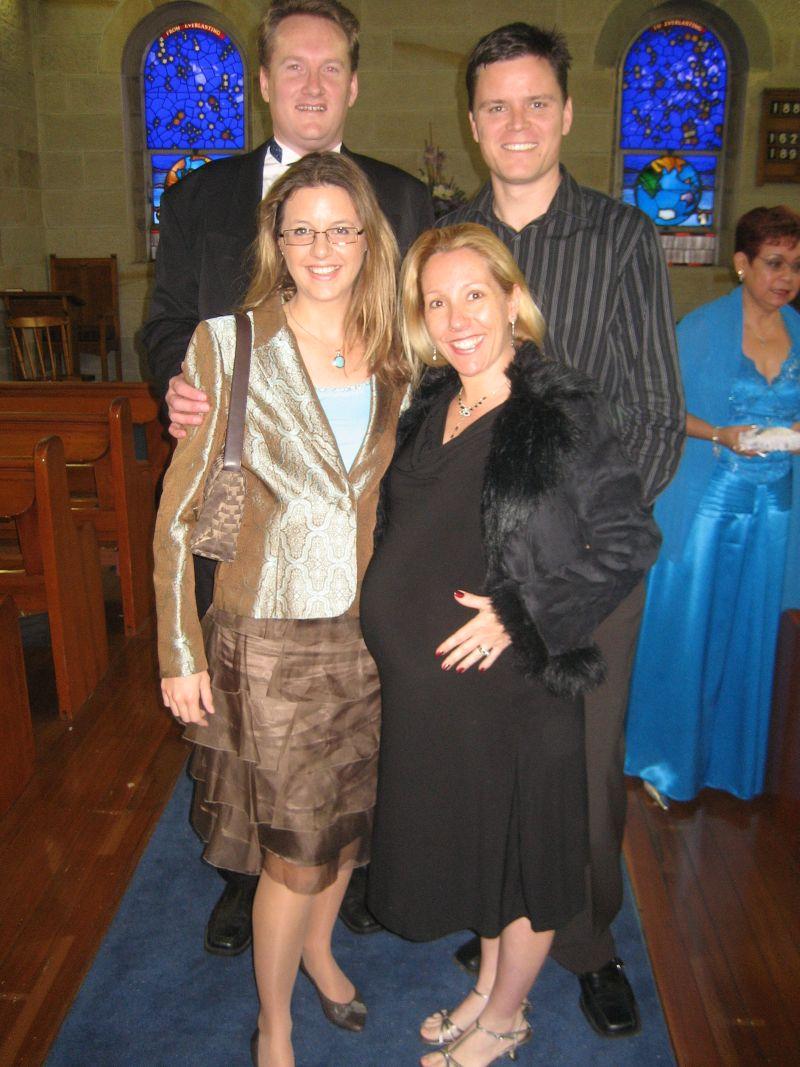 Avec Dave et vanessa enceinte