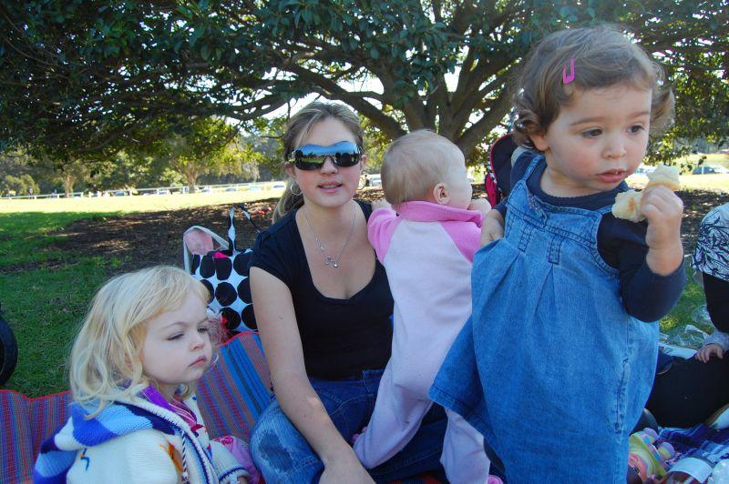 Dom, Camille, Margaux et bebe Elise